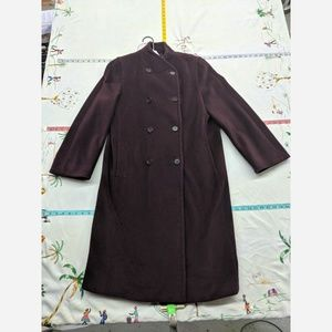 Women's Size 6 MaxMara Long Wool Trenchcoat - Luxu